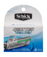 Schick Quattro Titanium Cartridges  4 Ct Peg