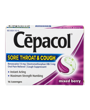 Cepacol® Sore Throat & Cough Mixed Berry Oral Pain Reliever L...