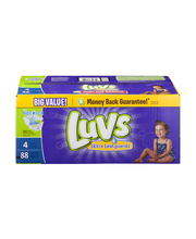 Luvs® Ultra Leakguards™ Size 4 Diapers 88 ct Box