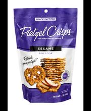 Pretzel Crisps® Sesame Deli Style Pretzel Crackers 7.2 oz. Bag