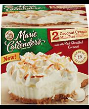 Marie Callender's® Coconut Cream Mini Pies 2 ct Box