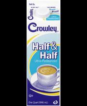 Crowley® Half & Half 1 qt. Carton