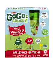 GoGo Squeez Applesauce On The Go Apple Strawberry - 4 CT