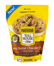 Nestle TOLL HOUSE Frozen Peanut Butter Chocolate Chip Cookie ...