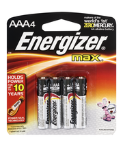 Energizer Max AAA - 4 CT