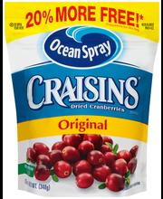 Ocean Spray® Craisins® Original Dried Cranberries 12 oz. Pouch