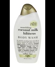 OGX® Nourishing Coconut Milk Hibiscus Creamy Body Wash 13 fl. oz. Bottle