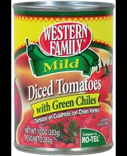 Wf Tomatoe Diced W/Gr Chil Mil
