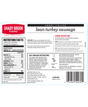 Shady Brook Farms Fresh Sweet Italian Turkey Sausage (1.25 lbs)