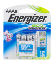 Energizer AAA Eco Advanced Batteries - 6 CT