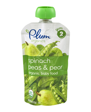 Plum® Organics Stage 2 Pear Spinach & Pea Baby Food 4 oz. Pouch