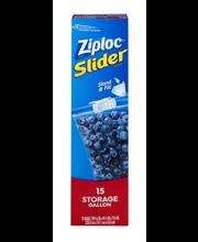 Ziploc Slider Bags Storage Gallon - 15 CT