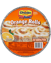 Rhodes® Anytime!™ Orange Rolls with Orange Cream Cheese Frost...