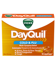 Vicks® DayQuil™ Cold & Flu Multi-Symptom Relief LiquiCaps™ 16...