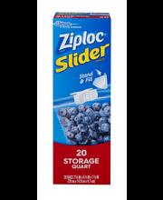 Ziploc® Slider Storage Quart Bags 20 ct Box