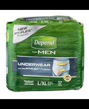 Depend® Fit-flex® L/xl Maximum Absorbency Underwear For Men 1...