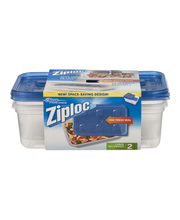 Ziploc® Large Rectangle Containers 2 ct. Sleeve