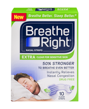 Breathe Right® Extra Clear Nasal Strips 10 ct Box