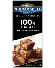 Ghirardelli® 100% Cacao Unsweetened Chocolate Baking Bar 4 oz...