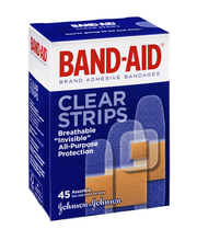 Band-Aid® Clear Strips Assorted 45 ct