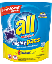 All® Stainlifter® Mighty Pacs® Laundry Detergent 48 Loads 33....