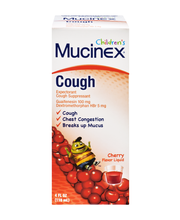 Mucinex Children's® Cherry Flavor Cough Suppressant/Expectora...