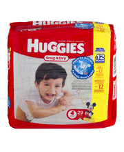 Huggies® Snug & Dry* Size 4 Diapers 29 ct Pack