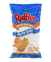 Ruffles® Cheddar & Sour Cream Potato Chips Party Size 13 oz. Bag