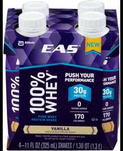 EAS® 100% Whey Vanilla Protein Shake 4-11 fl. oz. Cartons