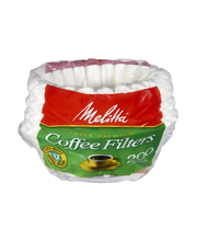 Melitta® White Paper Basket Coffee Filters 8-12 Cup Size 200 ...