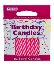 Culpitt Birthday Candles Numeral Candle Pink - 24 CT