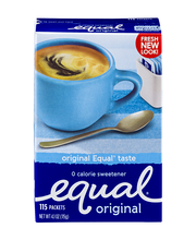 Equal Original 0 Calorie Sweetener Packets - 115 CT