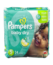 Pampers Baby-Dry Size 5 Diapers 24 ct Pack
