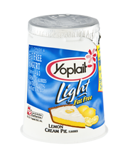 Yoplait® Light Fat Free Yogurt Lemon Cream Pie 6.0 oz. Cup