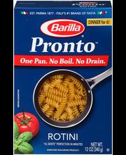 Barilla® Pronto™ Rotini Pasta 12 oz. Box