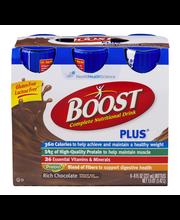 BOOST PLUS® Complete Nutritional Drink, Chocolate Sensation, ...