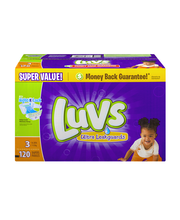 Stretch Luvs with Ultra Leakguards Size 3 Diapers 120 Count