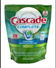 Cascade Complete ActionPacs Dishwasher Detergent Fresh Scent ...
