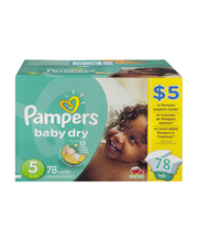 Pampers Baby-Dry Size 5 Diapers 78 ct Box