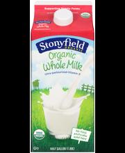 Stonyfield Organic™ Whole Milk 0.5 gal. Carton