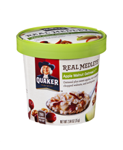 Quaker® Real Medleys® Apple Walnut Flavor Oatmeal + 2.64 oz. Cup