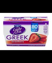 Dannon® Light & Fit® Greek Blended Nonfat Yogurt Strawberry 5...