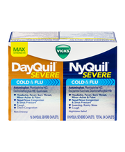Vicks® DayQuil™/NyQuil™ Severe Cold & Flu Caplets 24 ct Box