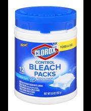 Clorox Bleach Packs Water-Activated Solid Bleach Regular Scen...