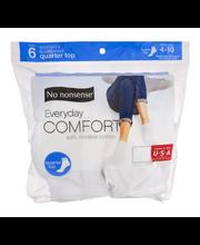 No nonsense Everyday Comfort Quarter Top Socks - 6 PR