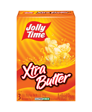Jolly Time® Xtra Butter Microwave Pop Corn Bags 3-3 oz. Box