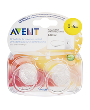 Avent Orthodonic Pacifiers 0-6m Classic - 2 CT
