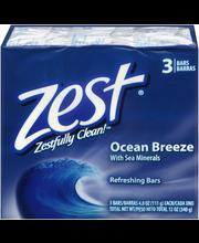 Zest® Ocean Breeze Refreshing Soap 3-4.0 oz. Bars