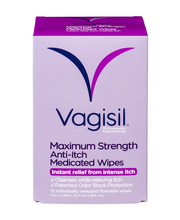 Vagisil Maximum Strength Anti-Itch Medicated Wipes - 12 CT