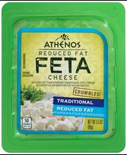 Athenos Crumbled Traditional Reduced Fat Feta Cheese 3.5 oz. Tub